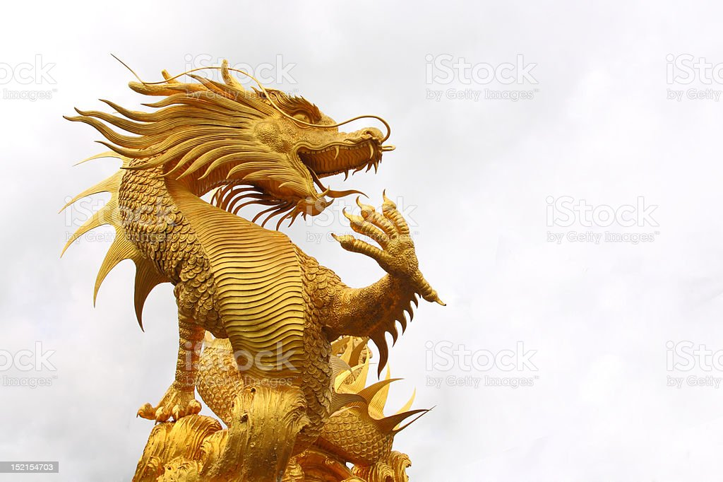 Golden drago royalty-free stock photo