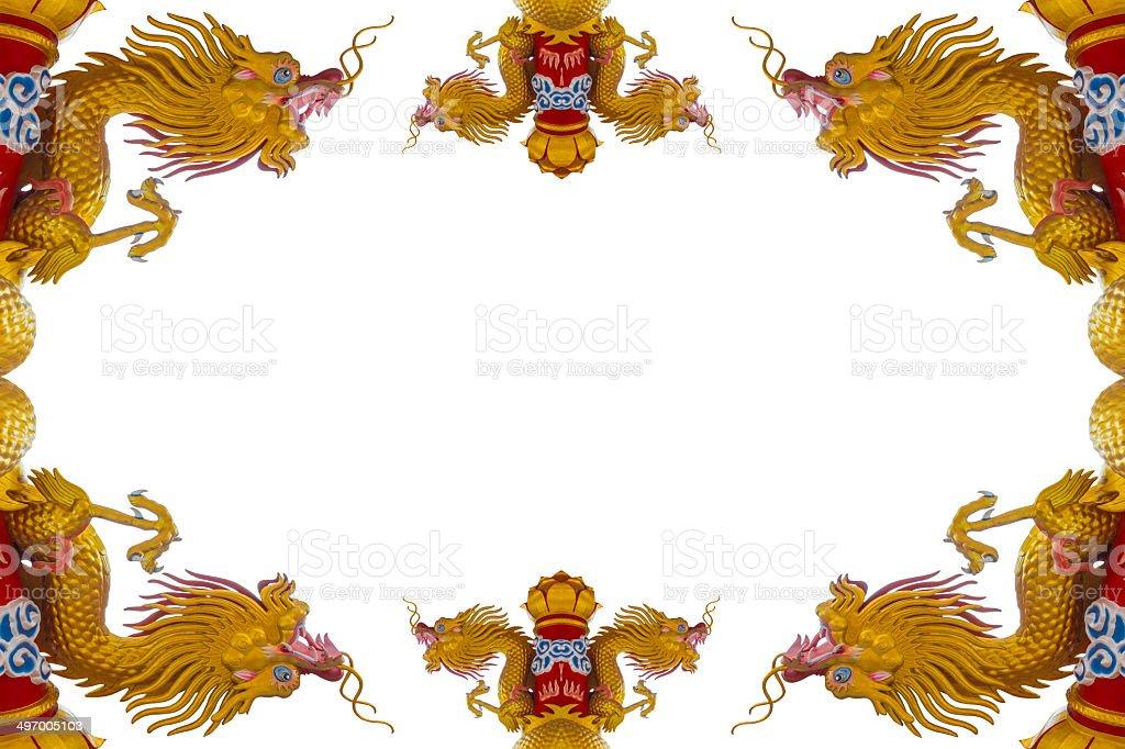 Golden Dragon Card royalty-free stock photo