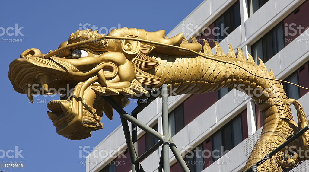 Golden Dragon Gate, Chinatown, Los Angeles royalty-free stock photo