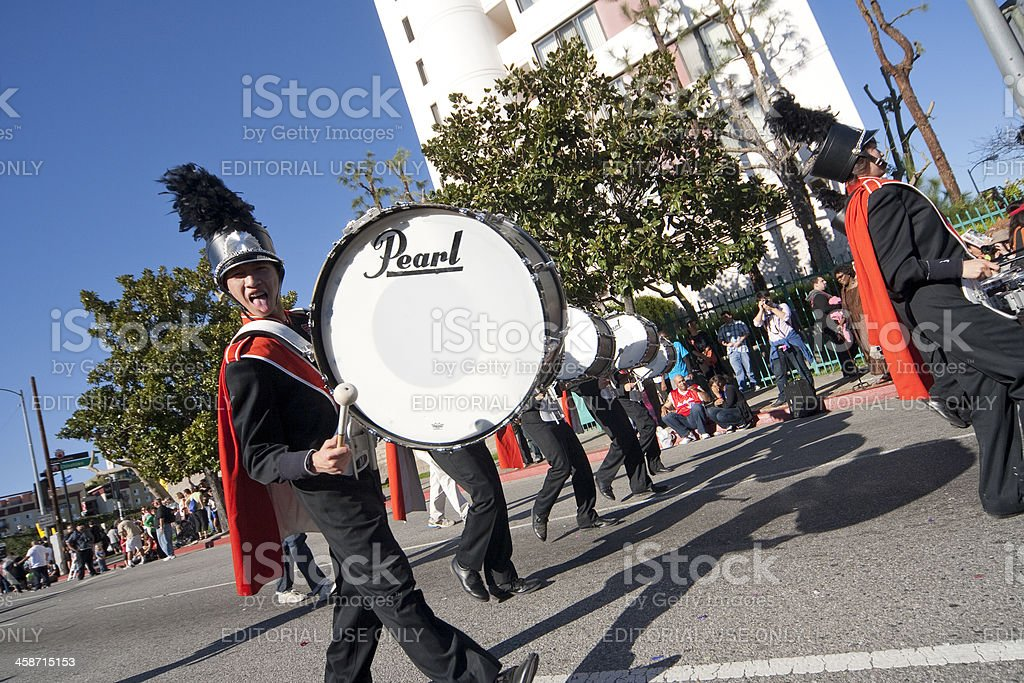 Golden Dragon Parade Marching Band stock photo