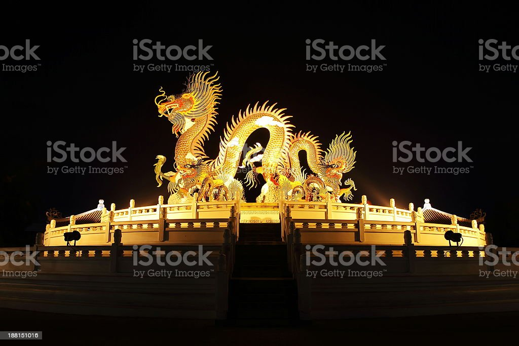 Golden Dragon royalty-free stock photo