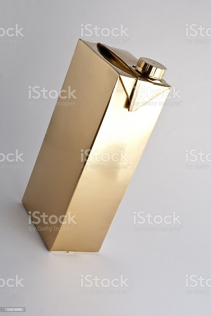 Golden drink container royalty-free stock photo
