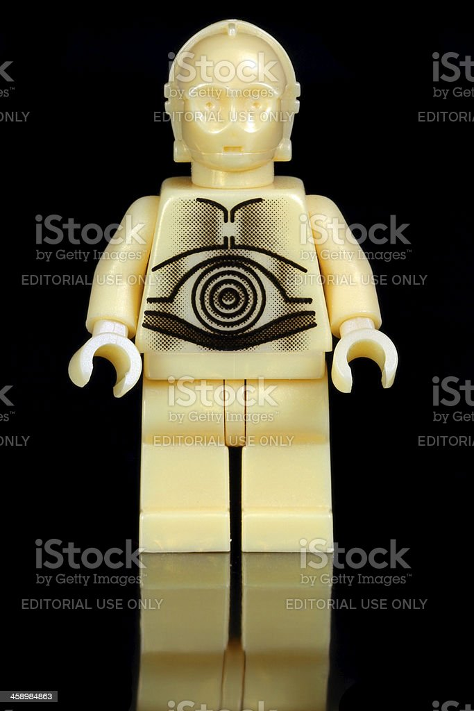 Golden Droid stock photo