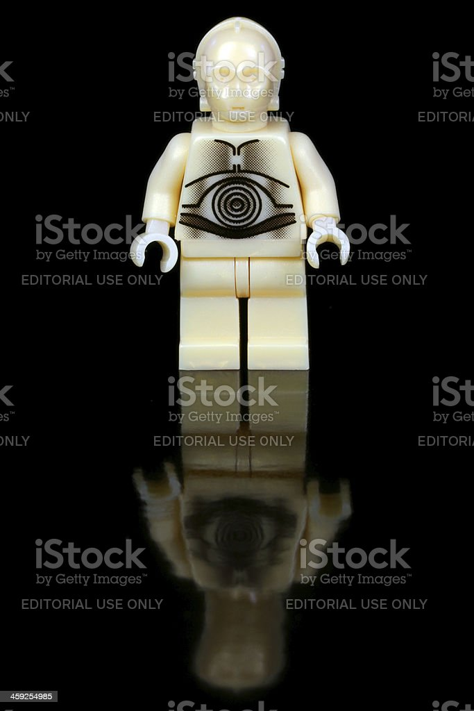 Golden Droid royalty-free stock photo