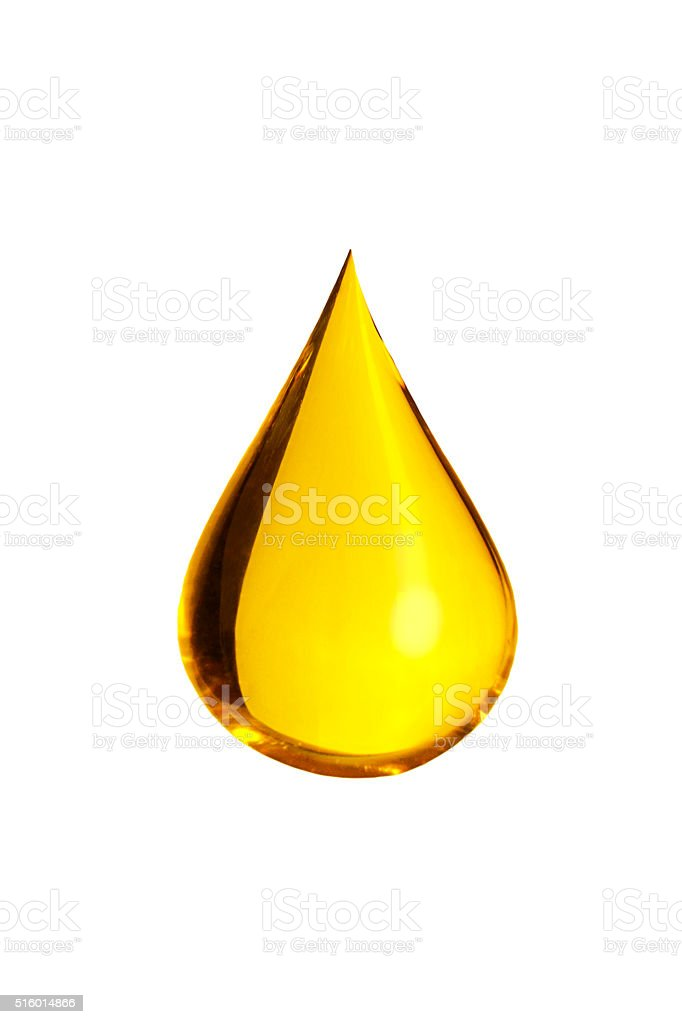 golden drop - stock photo
