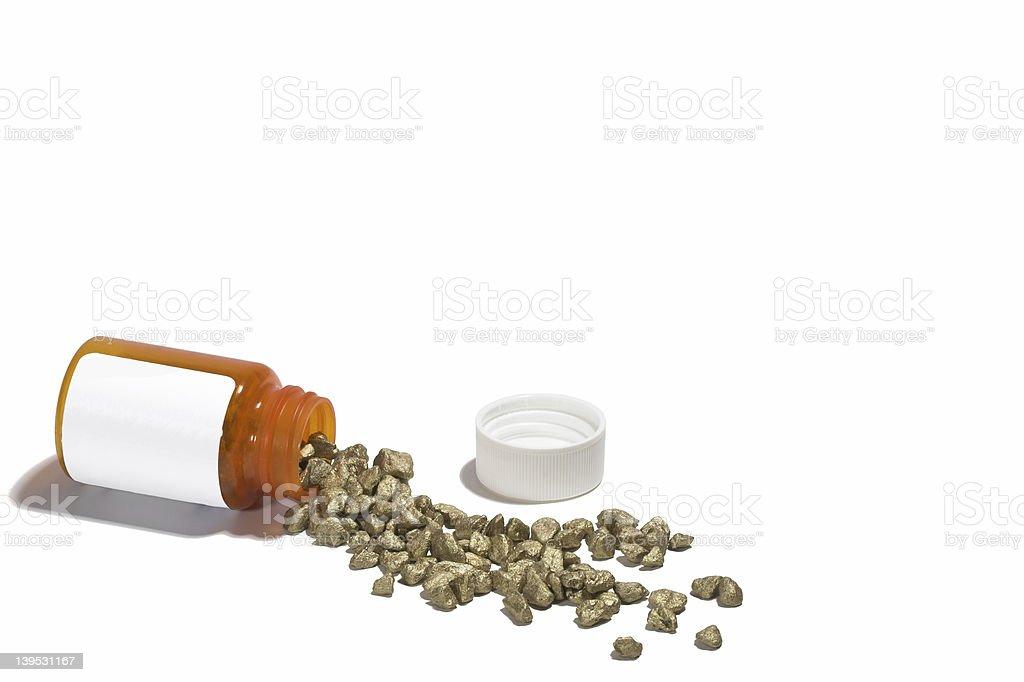 Golden Drugs stock photo