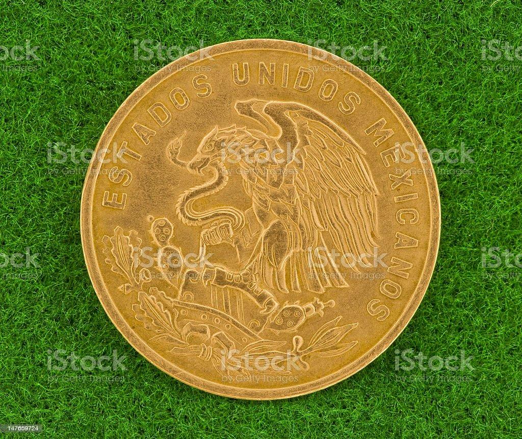 Golden Eagle Mexican Coin royalty-free stock photo