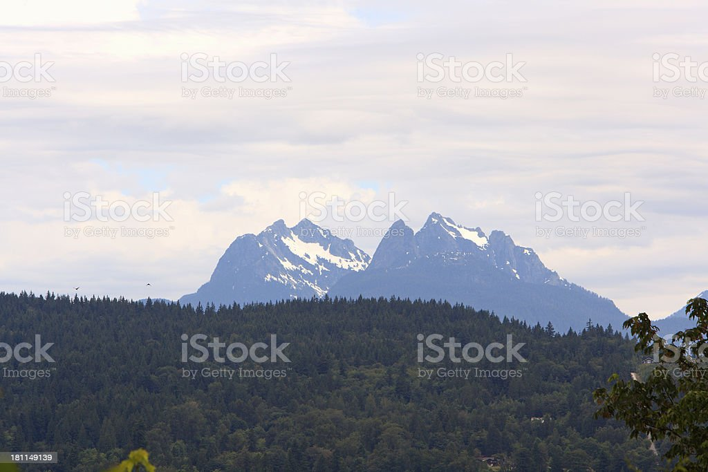Golden Ears Mountain Range British Columbia stock photo