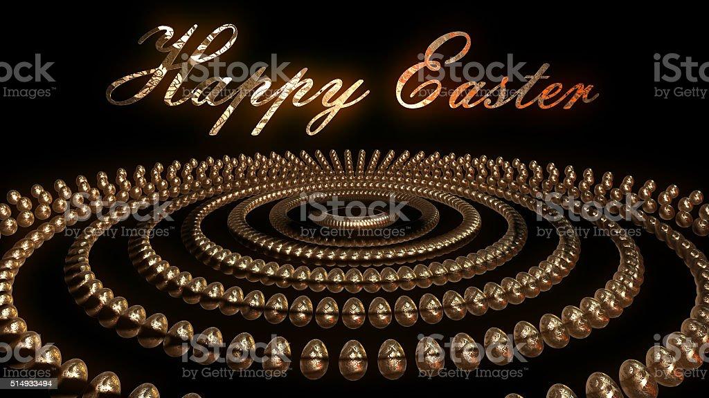 Golden Easter EGG royalty-free stock photo