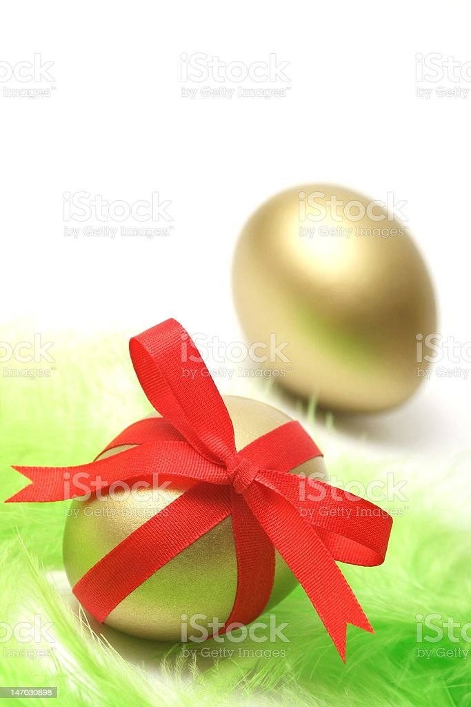 Golden Easter royalty-free stock photo