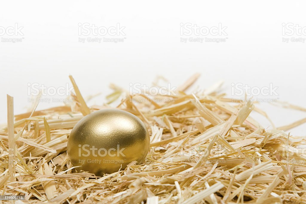 Golden Egg Closeup royalty-free stock photo