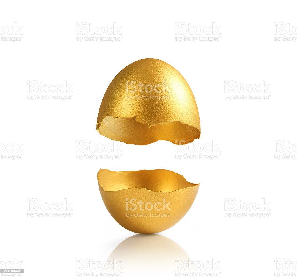 Golden egg isolated stock photo