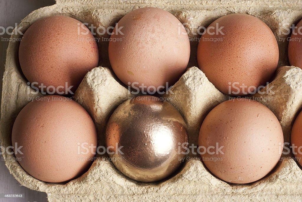 Huevos de oro foto de stock libre de derechos