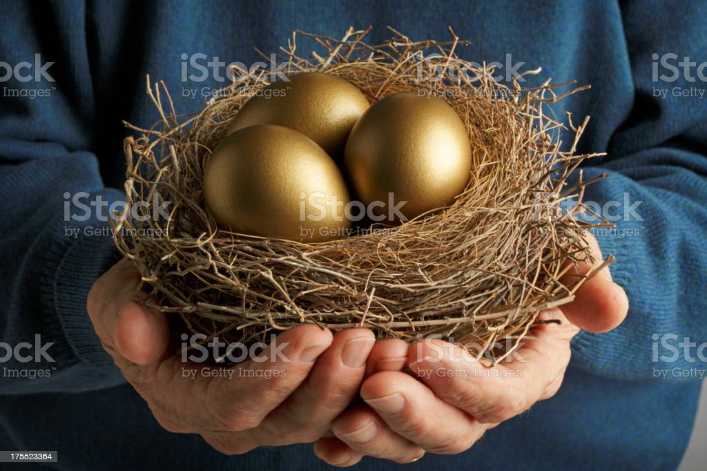 Golden Eggs royalty-free stock photo