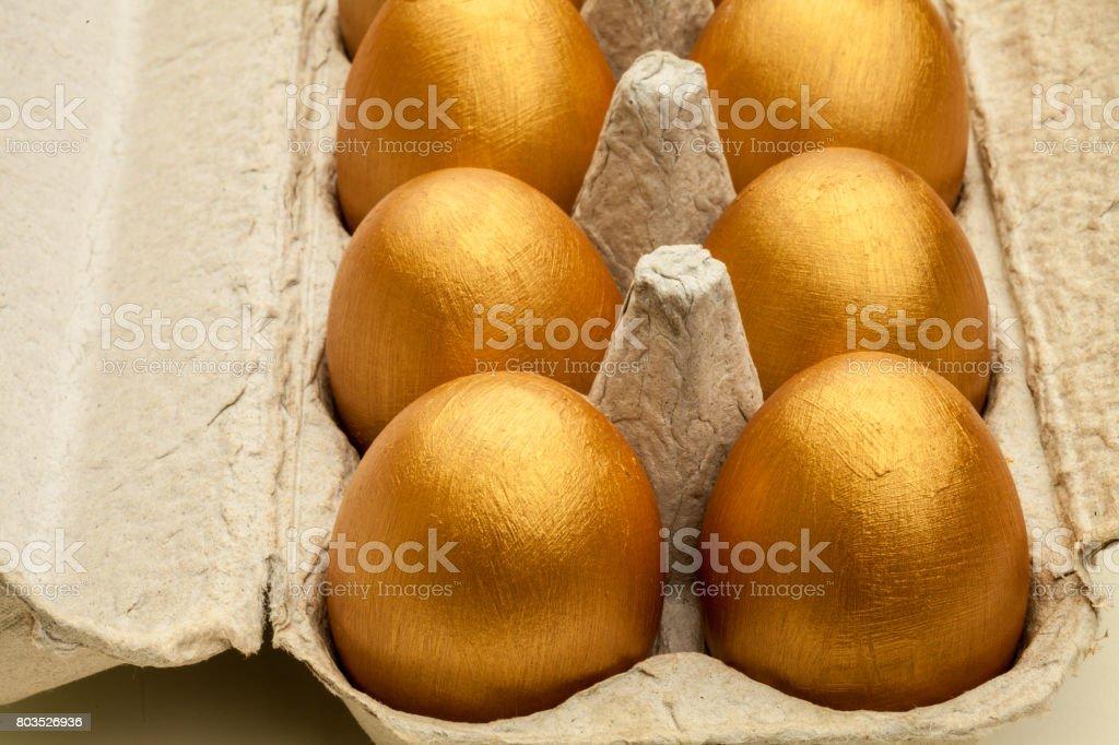 Golden Eggs stock photo
