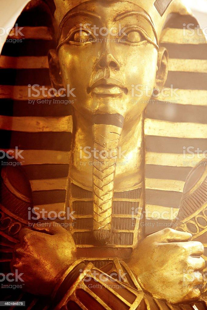 Golden Egyptian Sarcophagus royalty-free stock photo