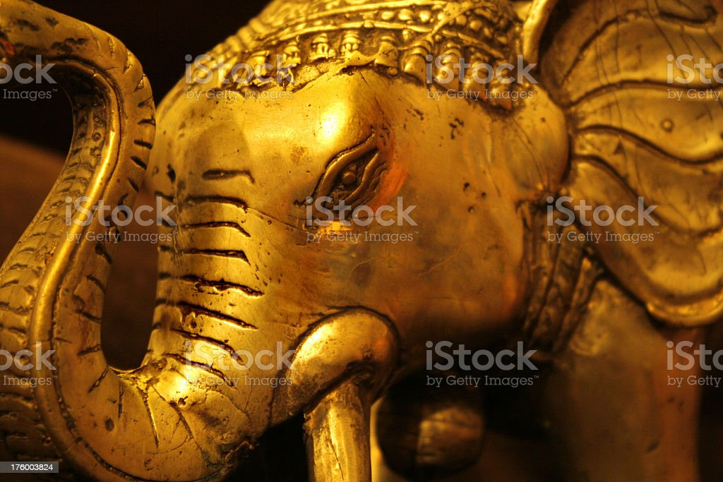 Golden Elephant royalty-free stock photo