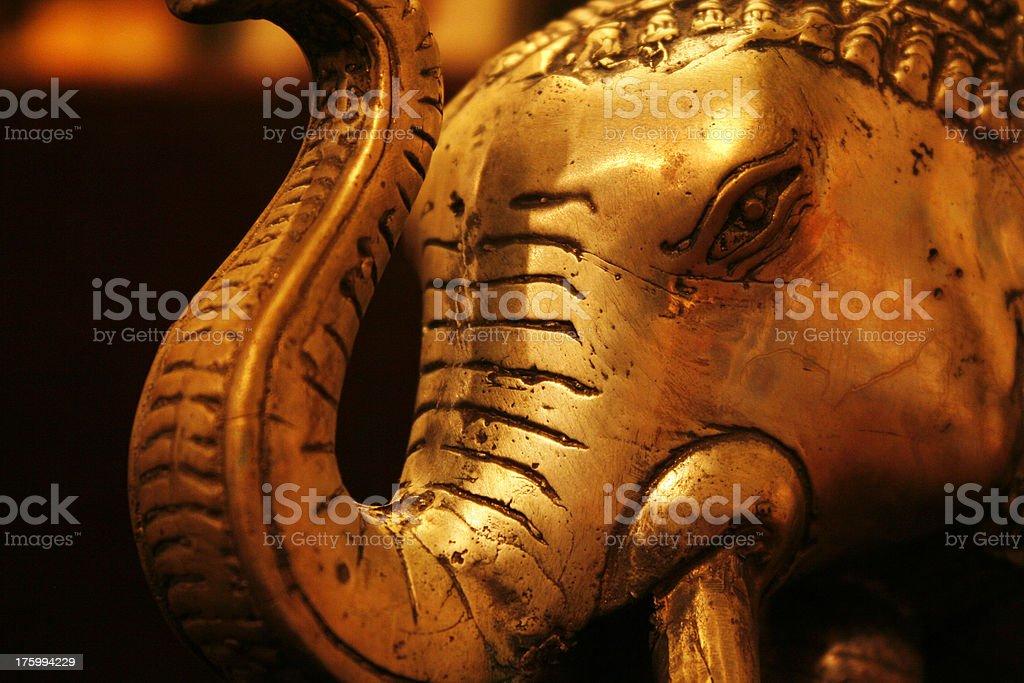 Golden Elephant v3 royalty-free stock photo
