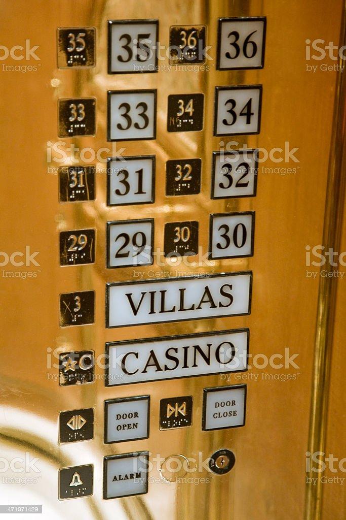 Golden Elevator Keypad stock photo
