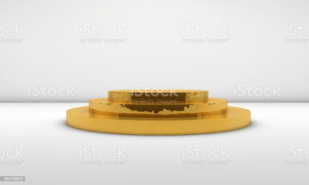 Golden Empty Podium stock photo