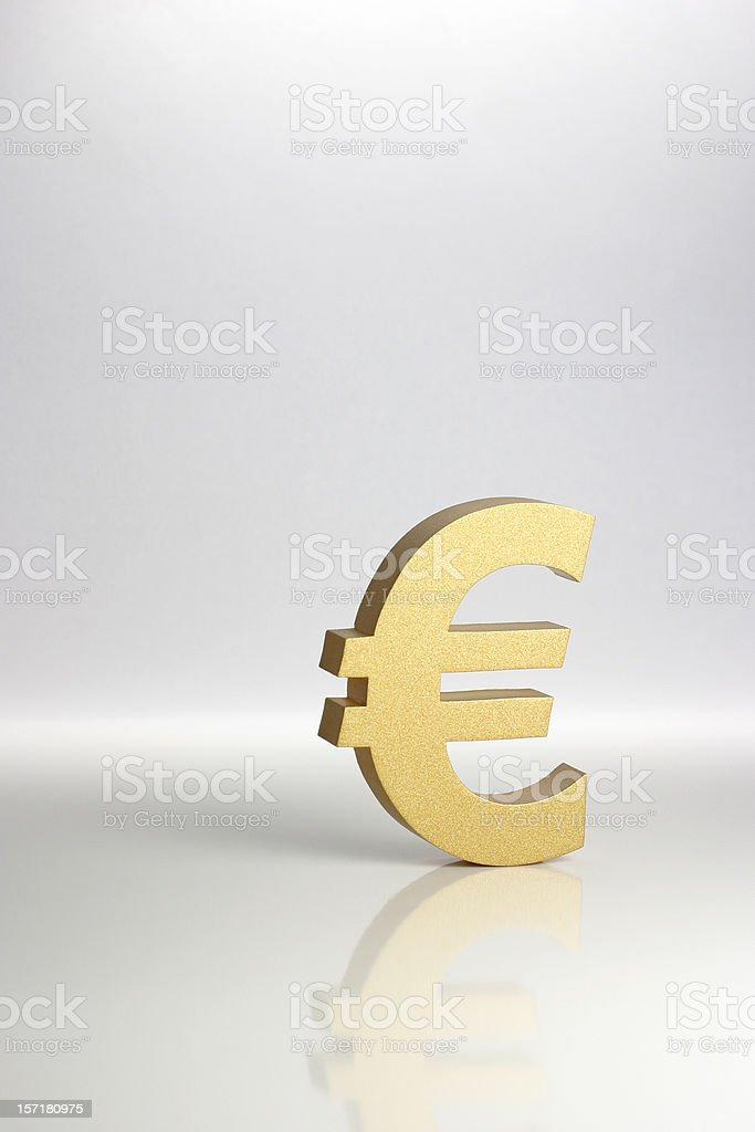 Golden Euro Symbol stock photo