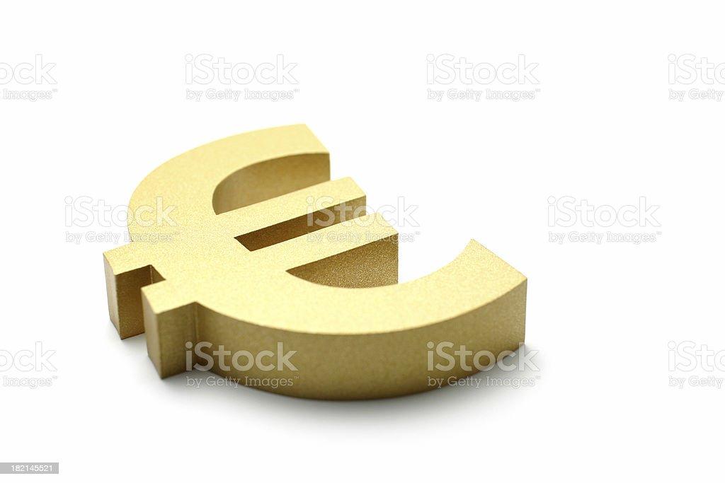 Golden Euro Symbol royalty-free stock photo