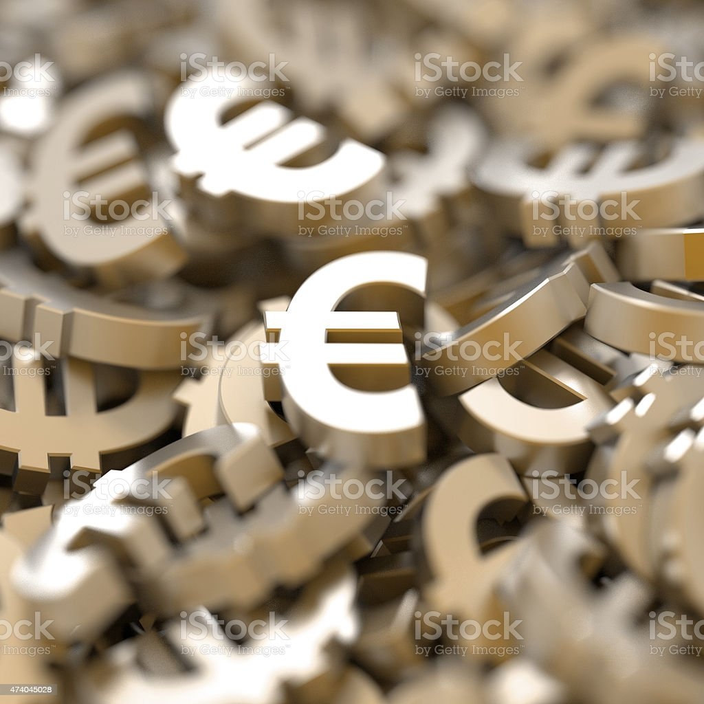 Golden Euros stock photo