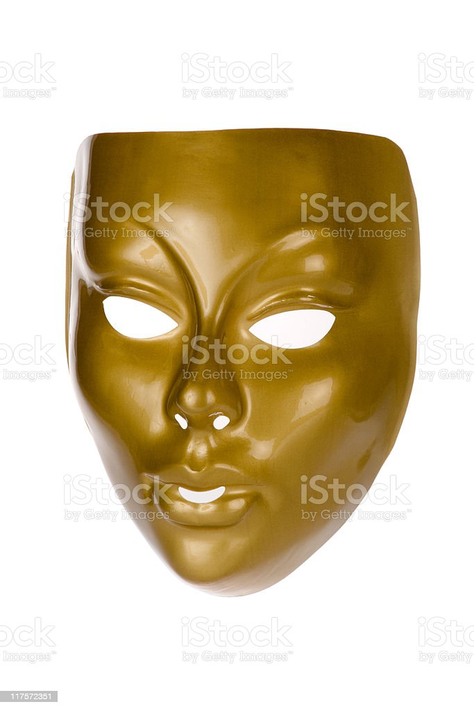 Golden Face Mask royalty-free stock photo