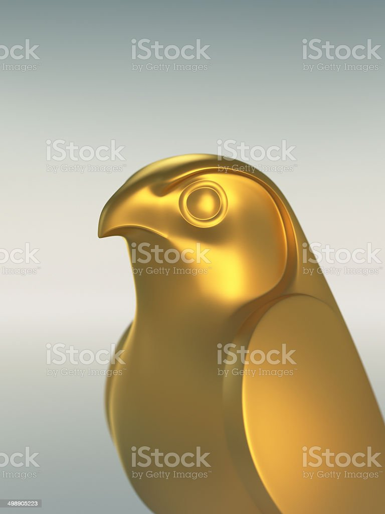 Golden Falcon Statue XL royalty-free stock photo
