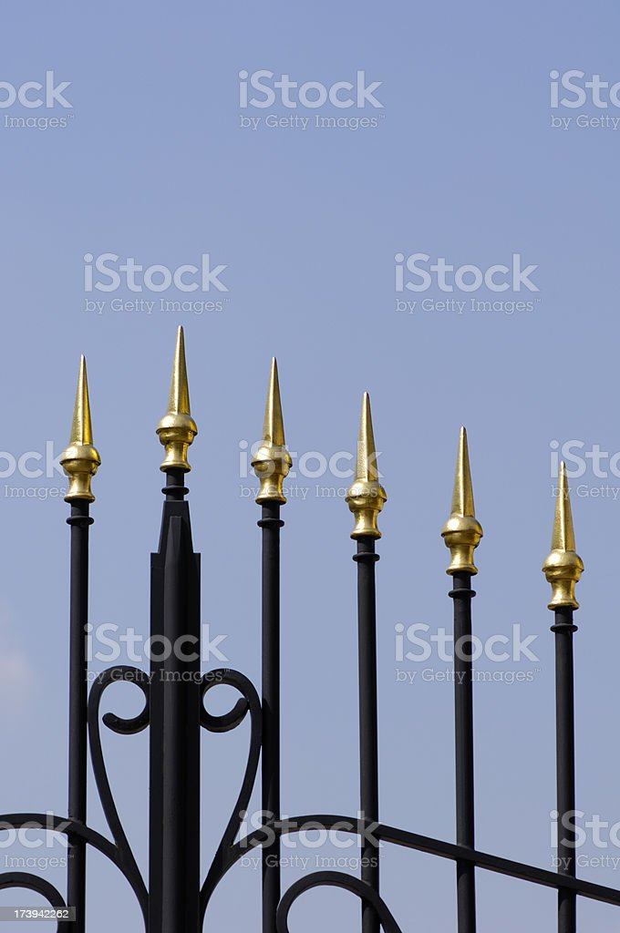 Golden fence royalty-free stock photo