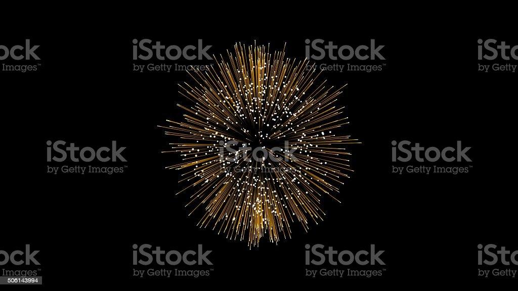 Golden Firework stock photo