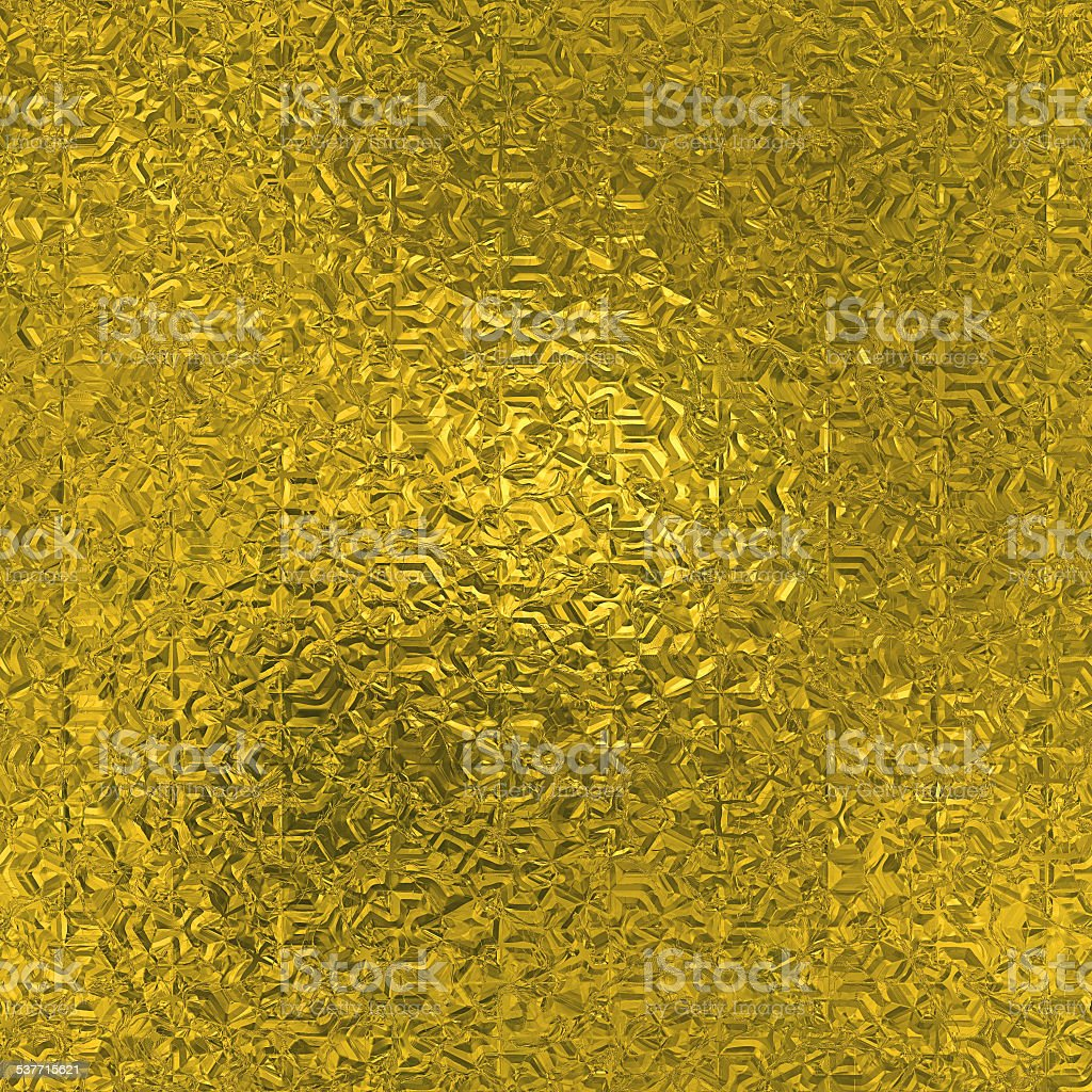 Golden Foil Seamless and Tileable Background Texture stock photo