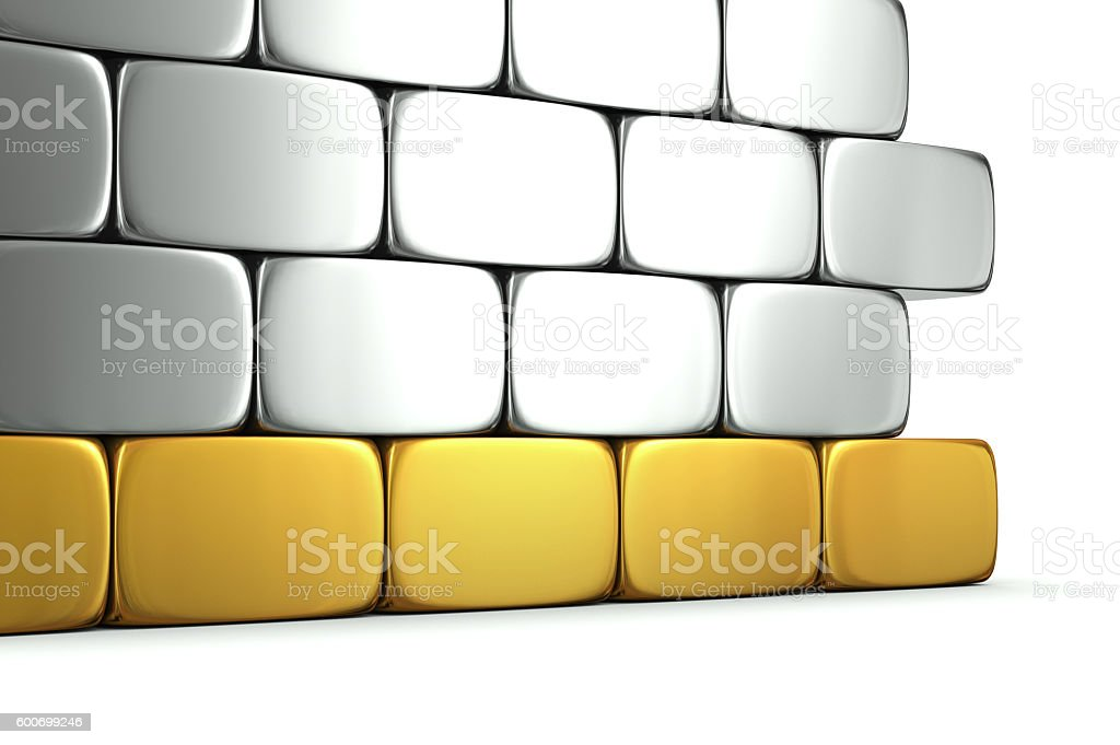 Golden foundation stock photo