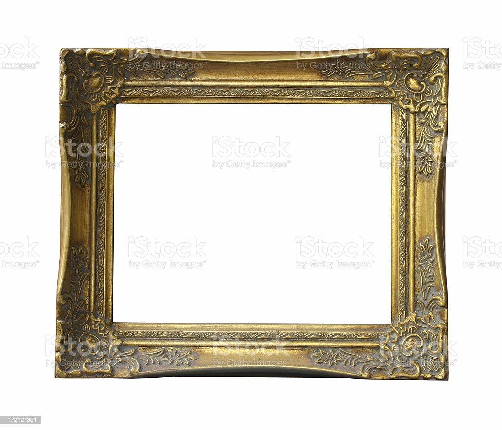 golden frame stock photo