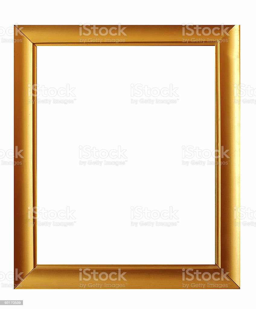 golden frame #9 royalty-free stock photo