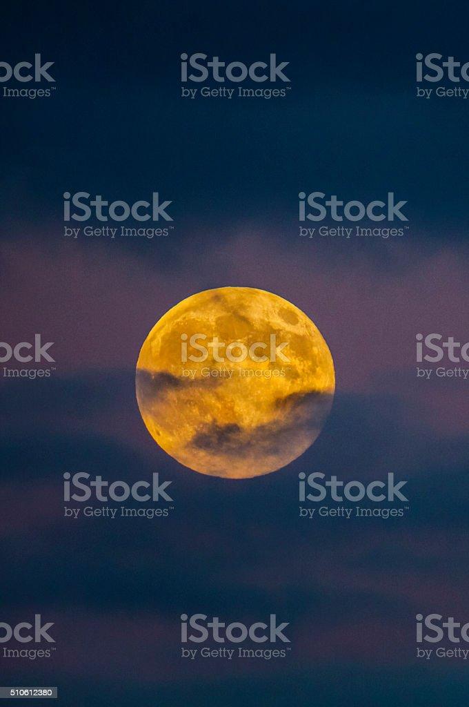 Golden Full Moon stock photo