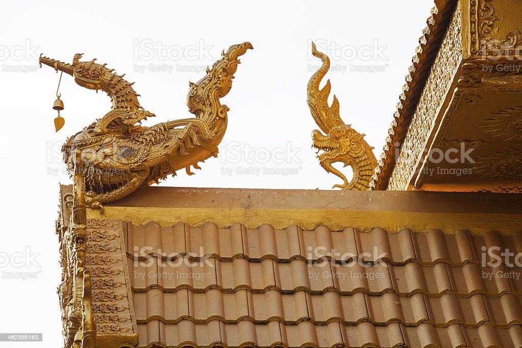 Golden Gable Apex royalty-free stock photo