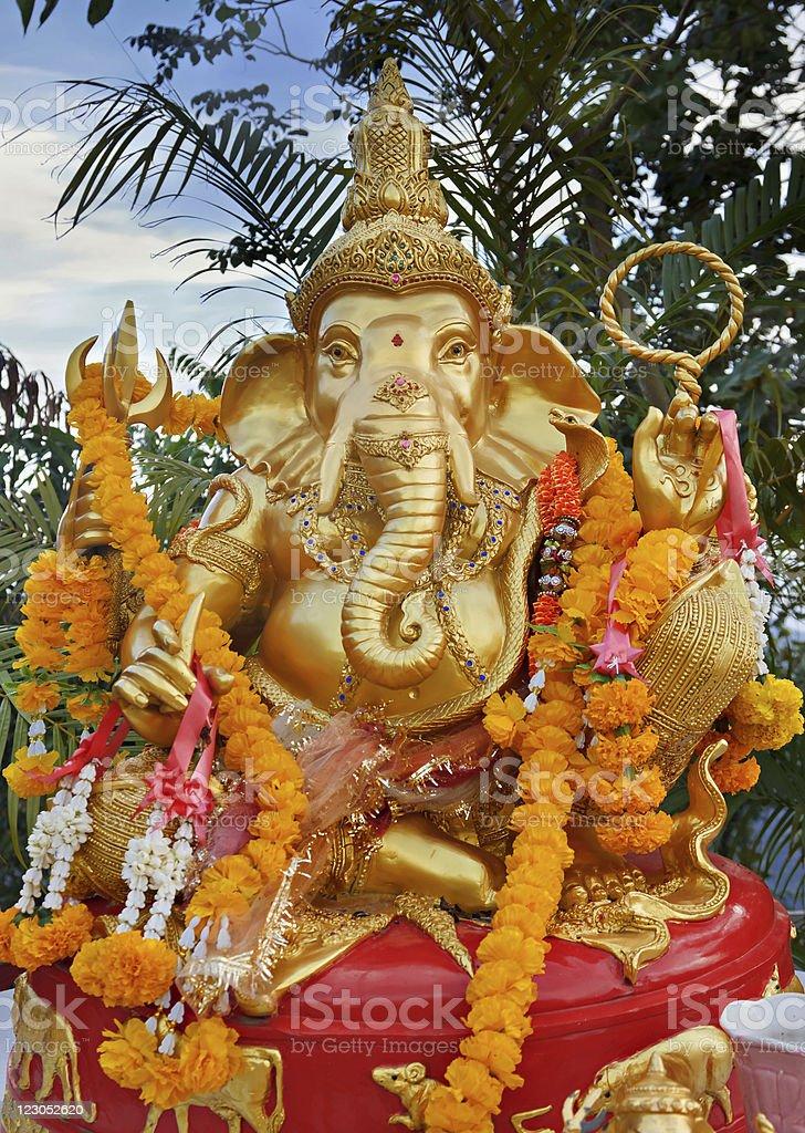 Golden ganesha royalty-free stock photo