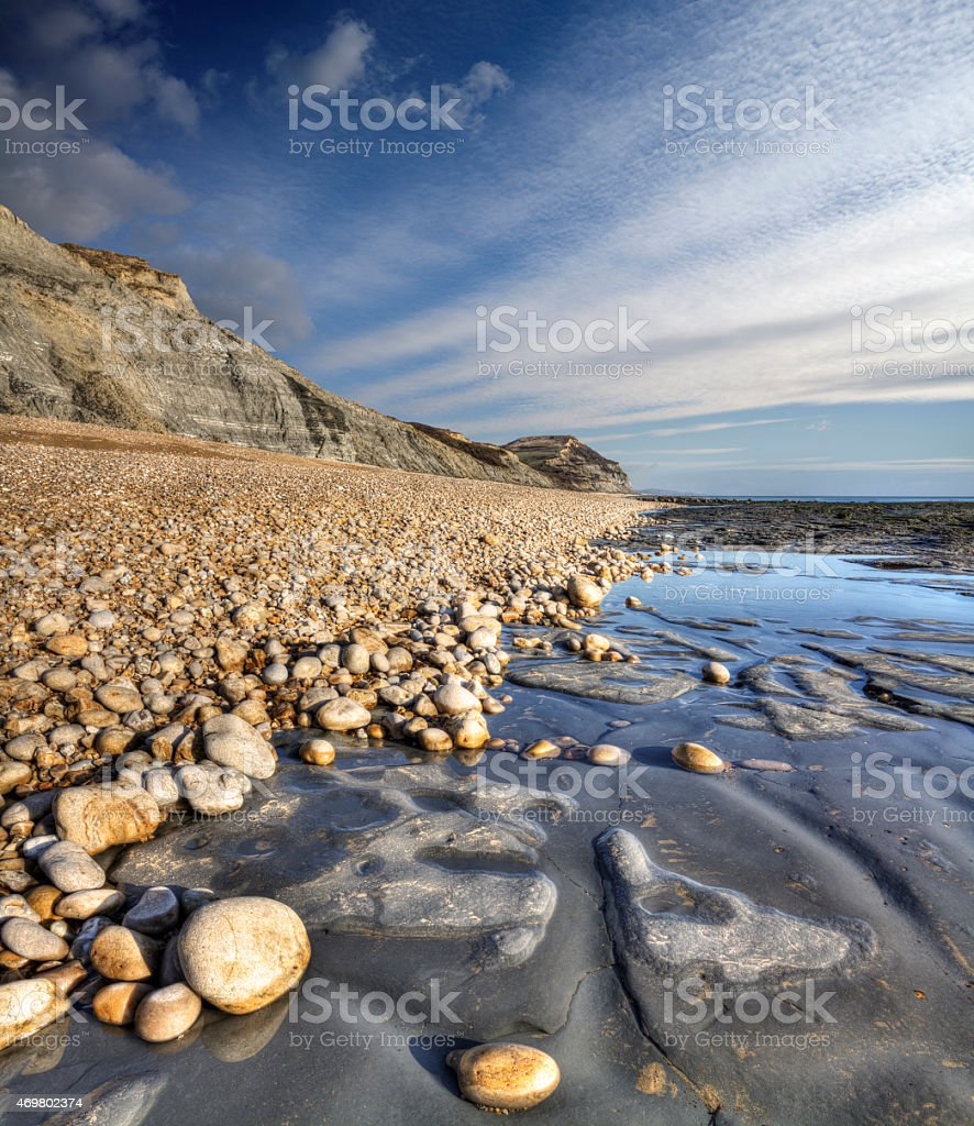 Golden Gap on the Dorset Jurassic Coast stock photo