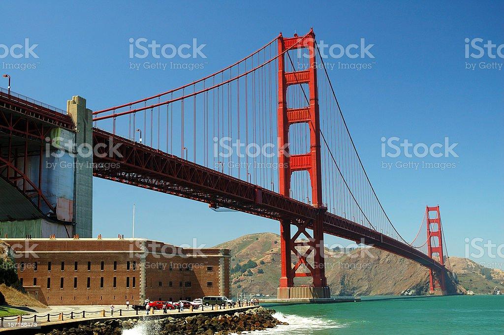 Golden Gate alternate view royalty-free stock photo