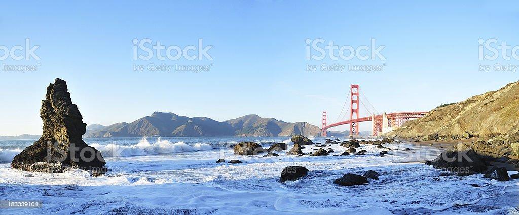Golden Gate and Baker Beach stock photo