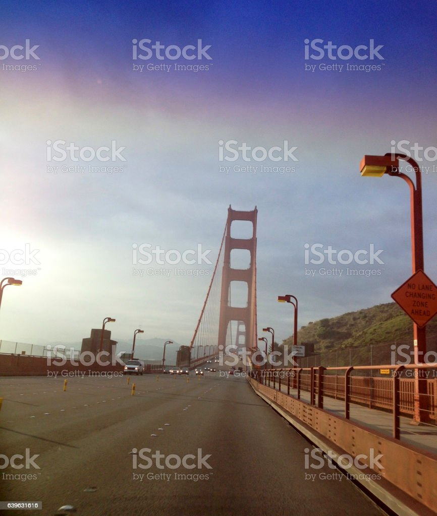 Golden Gate approach stock photo