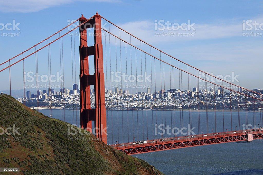 Golden Gate Beauty royalty-free stock photo