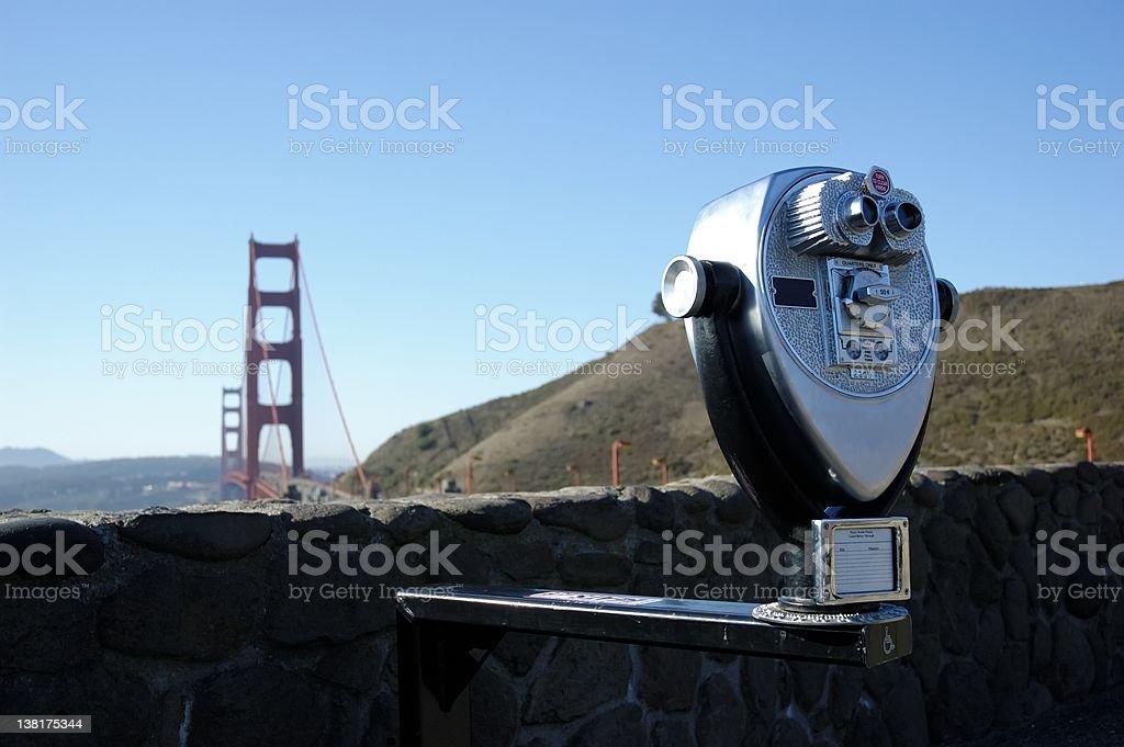 Golden Gate Binocular stock photo