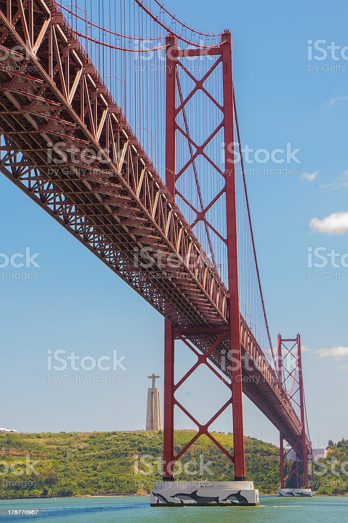 Golden Gate Br?cke in Lissabon stock photo