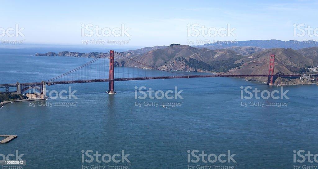 Golden Gate Bridge Aerial view stock photo