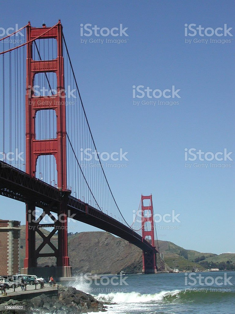 Golden Gate Bridge and Fort Point royalty-free stock photo