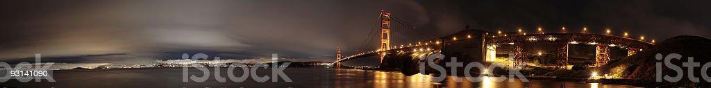 golden gate bridge and san francisco downtown royalty-free stock photo