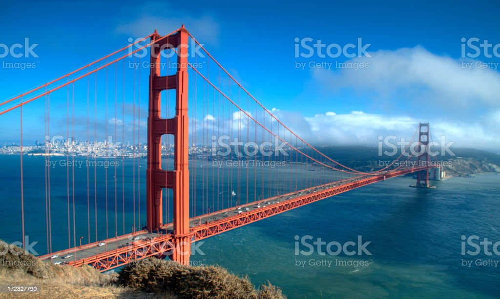 Golden Gate Bridge and San Francisco royalty-free stock photo