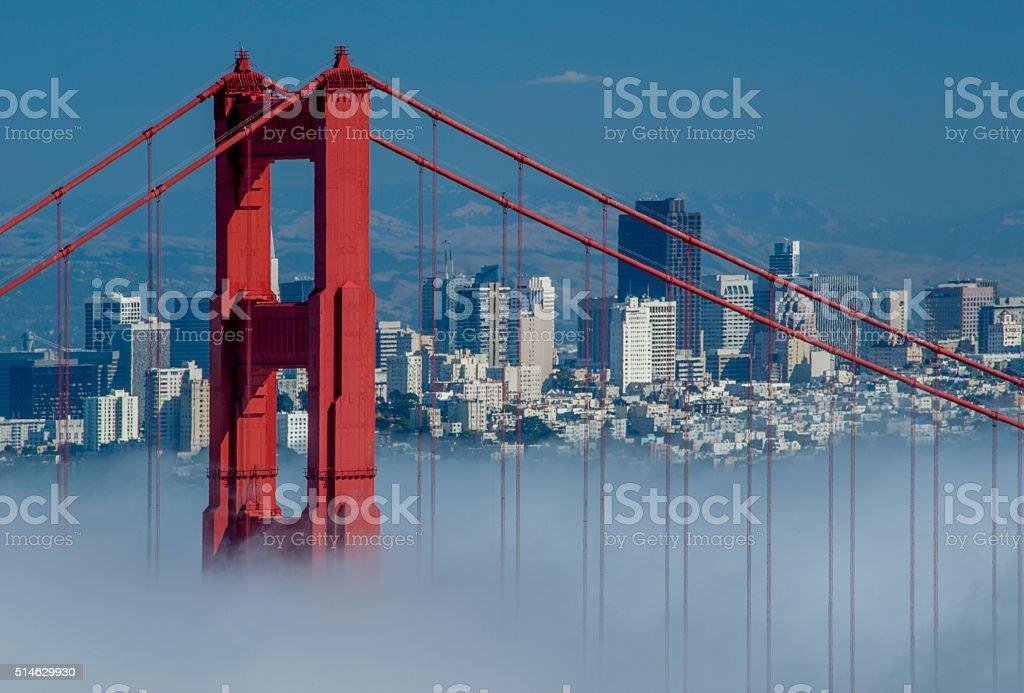 Golden Gate Bridge and San Francisco stock photo